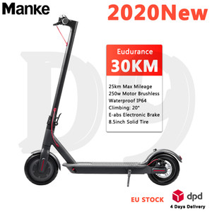 Hot in Europe High Power 350w 8.5'' Electric Foldable Scooter Max 25 Mileage Waterproof Smart Skateboard Bluetooth APPS White & Black