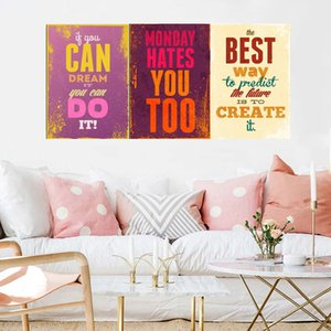 Gohipang Motivacional Tipografia Life Quotes Prints A4 Retro Vintage Art Poster Hippie parede Pictures Canvas Pintura Home Decor