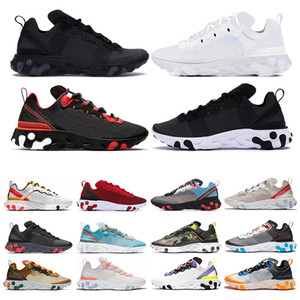 Nike Epic React Element 87 55 Hot react element 55 zapatillas de running para hombre mujer Jade Solar Red triple negro blanco Royal Red zapatillas deportivas tamaño 36-45
