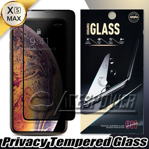 Full Cover Privacy vetro temperato per Iphone 11 Pro Max X XS XR 8 7 6S Inoltre con il pacchetto di carta
