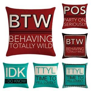 Sign English HomerDecor Cushion Cover Throw Pillowcase Pillow Covers 45 * 45cm Sofa Seat Cushion Decorative