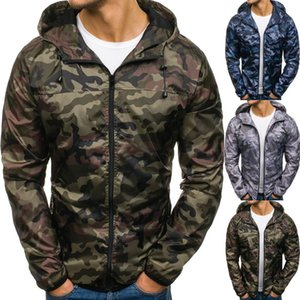 Spring and autumn new long sleeved camouflage jacket fashion loose windbreaker zipper outwear men's jacket T200820