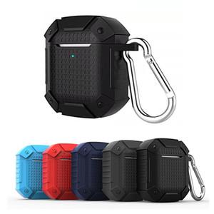 Armure Hard Case Cover pour AirPod 1 2 Heavy Duty étanche résistant aux chocs anti-poussière TPU écouteur sans fil portable Shell Case