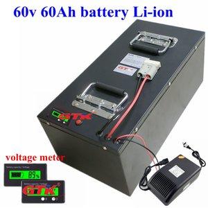 금속 케이스 60V 60AH 리튬 배터리 리튬 이온 고성능 BMS RV EV 모터 elecrtric 자전거 6,000w + 10A 충전기하지 납