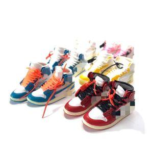 Grossista dropshipping sapatos OW 3D Mini tênis Keychain