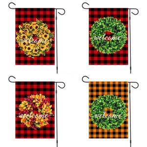 Мода 32 * 47см моды Баннер полиэфирного волокна Happy Easter Theme Garden Flag Cute Single Layer Водонепроницаемые Флаги Новое прибытие # 433