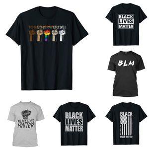 أنماط أنا غير قادر على التنفس نيو تي شيرت للرجال / إمرأة 2020 المساواة كفاح الملابس أزياء نمط جديد قميص رجالي الأعلى تيز الأسود حياة المسألة