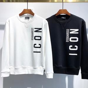 2020 الرجال مصمم هوديس كم طويل أسود أبيض هوديي الرجال قميص من النوع الثقيل ICON الرجال ق الملابس الآسيوي الحجم: M-3XL H971RF