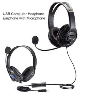 PC Portátil Call Center USB Headset Telefone Computador heaphone Com Microfone Negócios Wired auscultadores para computador
