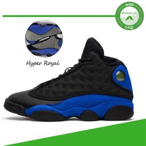 Jumpman 13 13s Hyper Royale Hommes Chaussures de basket vert chanceux chapeau et robe inversée Il Got Game tribunal Bred pourpre UNC Sneakers