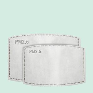 Hot 5 couche Adulte Enfant Masque jetable Tapis Insert de protection Filtre Mat bouche Masques Filtres PM2.OXNT Replaceable