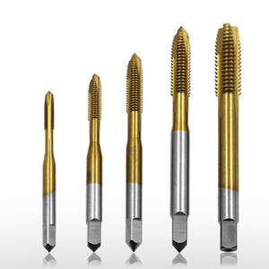 Pro #M3-M8 High-speed Steel Slotted Taps Tool (5pcs set) Heavy Duty Screws Tip Opener Accessory