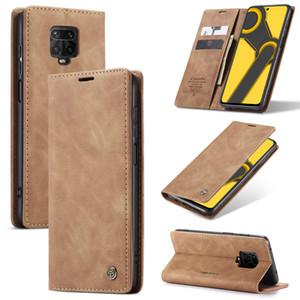 Caseme cuir rétro support magnétique flip Wallet Case pour Xiaomi redmi Note 9 Pro Max Note9S Note 8 Pro K20 Mi CC9 Pro