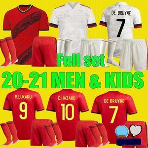 hombres nuevos 20 21 Bélgica Fútbol niños De Bruyne Lukaku kit 2020 2021 PELIGRO Batshuayi KOMPANY DEMBELE camiseta de fútbol adultos.Aquí niño