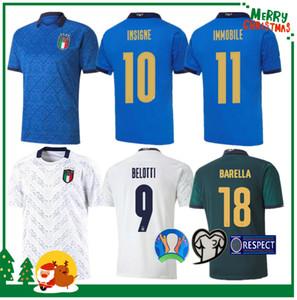 2020 이탈리아 축구 유니폼 (20) (21) 집에 떨어져 조르지 루이스 프 렐루 EL SHAARAWY 보 누치 INSIGNE BERNARDESCHI 성인 남성 + 아이 키트 축구 셔츠