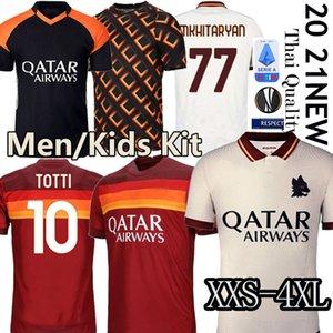 Thai AS maillot roma soccer jersey DE ROSSI DZEKO ZANIOLO rome TOTTI PEROTTI jerseys 19 20 21 football kit shirt 2020 Men + Kids