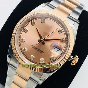 Eternity 2020 EWF V2 Upgrade versão 36mm 116231 116234 CAL.3235 Automático 126231 mens relógio rosa diamante inlay discar 316L aço de relógios de aço