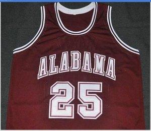 Donna-Uomo della gioventù Vintage # 25 Alabama Crimson Tide Robert Horry pallacanestro Jersey il formato S-5XL o personalizzato qualsiasi nome o numero di maglia