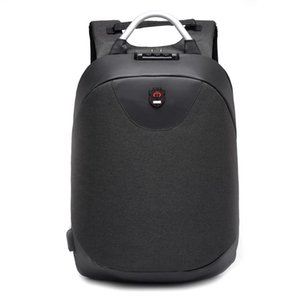 2019 new fashion 15.6 inch Laptop backpack men Waterproof Backpack Casual Travel Business USB Back pack Male Bag Anti-theft Gift