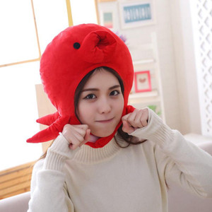 2020 Mode Octopus Soft Design chaud animal Cap Cartoon chapeaux en peluche femmes Nylon Hat Costume Party de Noël Casquette