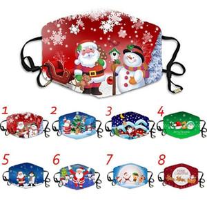 Noel Dekorasyon Noel ağacı Kardan Adam Elk Noel Baba Baskı Karikatür Noel Maskesi Yılbaşı Yılbaşı Dekoru Yeni 20 Stiller Maske