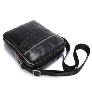 JIAMEN 2019 New Genuine Cowhide Leather Shoulder Bag Small Messenger Bags Men Travel Crossbody Bag Handbags New Fashion Men Bag