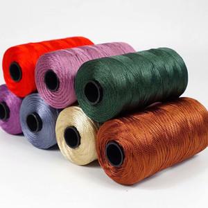 100 g de fibres de fil main Crochet glace fil de soie fait à la main Sac Chapeau mode Ruban d'été Corde pour handknitting Hat fil