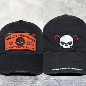 Hochwertige Zipfelmütze Harley Wasch Baseball Loch Baseball Baumwolle Schirmmütze für Männer 2QV5t