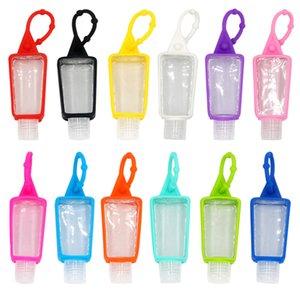 30ML Paquet de cas Sanitizer silicone main Sous bouteille de shampooing Gel Douche Makeup Container Nettoyant liquide avec la bouteille vide GWA897
