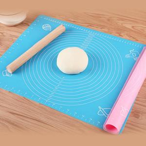 Cottura del silicone pad con quadrante 50 * 40cm antiaderente impasto di pasta mat tavole pasticceria per Clay fondente strumenti pasta cuoce silpat mat AHF891