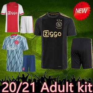 2021 AJAX FC Fußball Jersey ajax schwarz Fußball Adult-Kit VAN DE BEEK NERES NOURI DOLBERG HUNTELAAR ZIYECH Trikot ajax 3. Fußball-Set