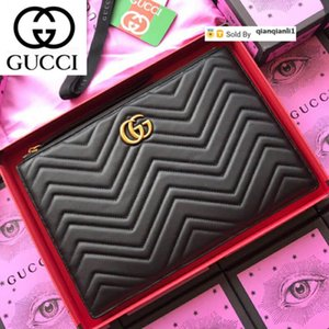 qianqianli1 Z3EM Quilted herringbone clutch 476440 black WOMEN REAL LEATHER LONG WALLET CHAIN WALLETS COMPACT PURSE CLUTCHES EVENING KEY
