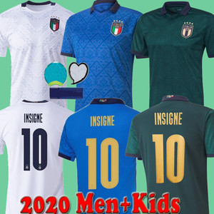 2020 2021 homens italy European Cup + caçoa o futebol Jersey 20 21 casa terceiro Chiellini EL Shaarawy Bonucci INSIGNE BERNARDESCHI FUTEBOL CAMISA set