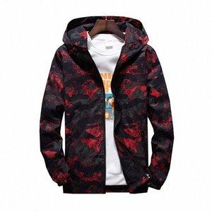 MORUANCLE 2019 para hombre primavera Camo chaqueta de las chaquetas de camuflaje con capucha informal para los jóvenes más el tamaño M 7XL prendas de vestir exteriores # Chm6
