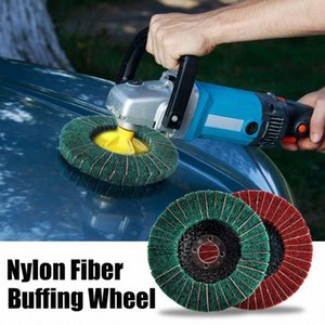 10cm Naylon Fiber Buffing Tekerlek Aşındırıcı Parlatıcı Buffing Disk 240/120 Kum Naylon Fiber parlatma diski Doersupp polisaj 6Qgn #
