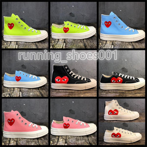 2020 Converse CDG 70s Giocare Chuck Hi Low Tutti 1970 Rosa Verde Tela Big Eyes Stelle Mens Donne Skate Casual Shoes Womens Sneakers Fashion