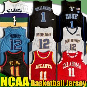 NCAA سونرس TRAE 11 الشباب جيرسي موراي جا 12 مورانت صهيون الفانيلة ويليامسون لوكا دونوفان ديفين Doncic ميتشل بوكر كلية الفانيلة