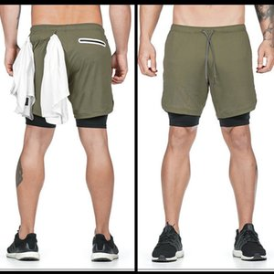Running Shorts Men 2 In 1 Double-deck Quick Dry Sport Shorts Fitness Jogging Workout Men Sports Short Pants