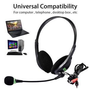 3,5 milímetros fone de ouvido do computador com microfone com cancelamento de ruído, leve PC Headset Wired fones de ouvido, Negócios Headset