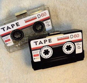 Акриловых сумки аудиокассеты мешок вечера прозрачного сцепления жестких коробки сцепление высокого класс мешок рука небольшой партия кошелек сумка