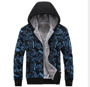 Wholesale new autumn and winter new men's loose hooded plus velvet thick winter warm jacket coat size L-8XL