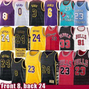 LeBron James Michael 23 Anthony Jersey Kuzma Davis Scottie Pippen Rodman Los AngelesLakersKobe24Bryant ChicagoTaureau