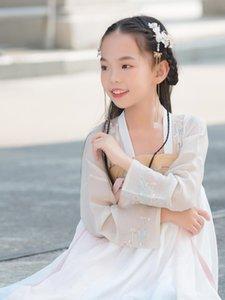 2z2Ik 2020 bambini vestito hanfu alta mestiere appeso abbellimento doratura abbigliamento Hanging nuova tintura dei bambini delle donne di disegno ricamato