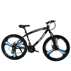 26-inch three-wheeled high-carbon steel mountain bike one-wheel disc brake bicycle male and female adult variable speed frame type bicycle