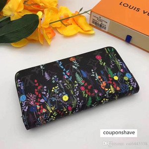 #6552 L 5A V ZIPPY Zipper for Women Fashion Shows Exotic Long Wallet Clutch Card Holder Evening Wallets Purse 61864 61865 61442