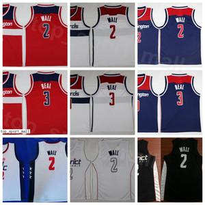 Дешевые Баскетбол Джон Уолл Джерси 2 Брэдли Бил 3 Мужчины Округ издания Заработанные Город Все Stithced команды Navy Синий Красный Белый