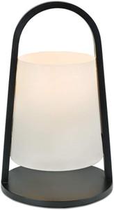 Nightstand Table Lamp, Wood Table Lantern, Bedside Desk Lamp for Bedroom Living Room - Black Corded Electric Night light