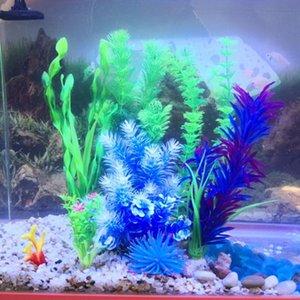 Aquarium accessories simulation water grass plant plastic fish tank fake landscaping underwater combination grass package
