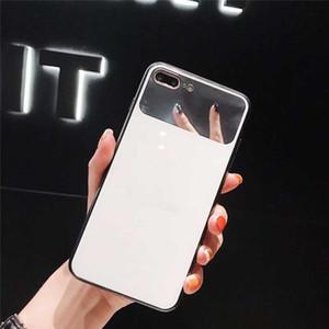 Мода силиконовый чехол для телефона IPhone XSMAX XR X / XS 7/8 7Plus / 8Plus Популярные Защитные Зеркальное стекло задней стороны обложки 2 цвета