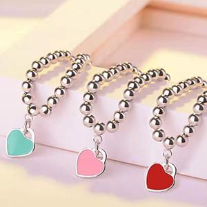 Monili di marca delle donne gioielli Cuore classica del pendente Blu Rosa Rosso 925 Ragazza Miglior regalo con l'imballaggio originale